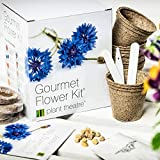 Gourmet Flower Kit - 6 Edible Flower Varieties to Grow - Great Gift