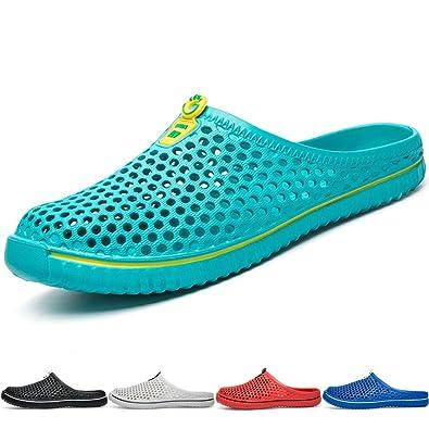 Damen Pantoletten Sandalen Hausschuhe Slipper Clogs Sommer Badeschuhe Schuhe 17