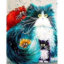 Alizeal Diy Oil Painting Paint by Numbers Kit Wall Paintings Animal Painting (Totoro)