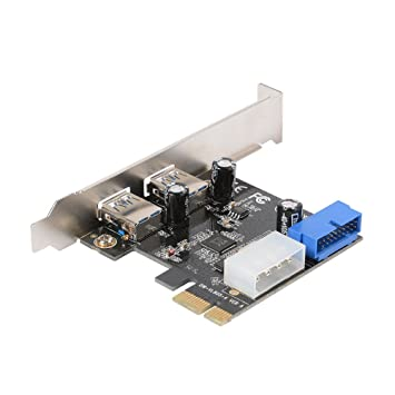 Carte Usb 3.Xcsource Desktop Pci E To Usb 3 0 Expansion Card With Interface Usb 3 0 Dual Ports 20 Pin Front Connector For Windows Xp Vista 7 8 10 Ac328