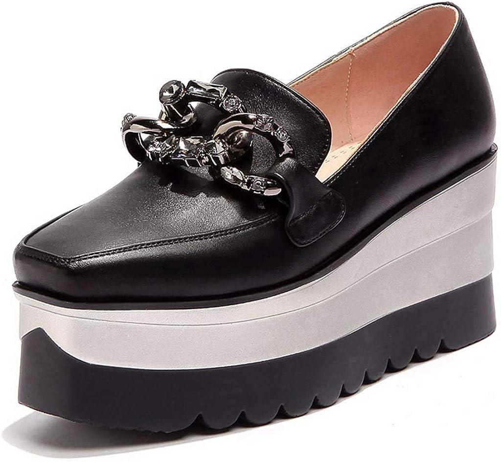 GIY Women's Slip On Loafers Platform