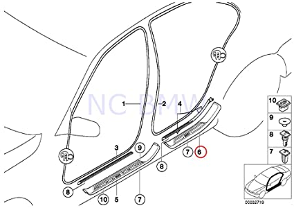 Amazon Com Bmw Genuine Rear Left Entry M Trim Piece Automotive