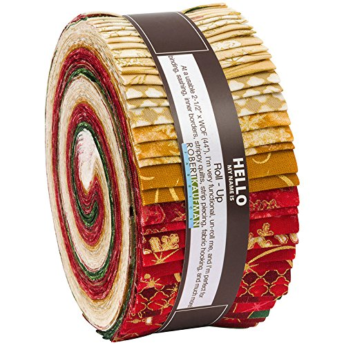 Winter's Grandeur Holiday Colorstory Roll up 40 2.5-inch Strips Jelly Roll Robert Kaufman Fabrics