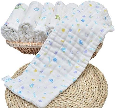 Lg-jz 10 de Gasa de algodón, pañales Lavables, pañales for bebés recién Nacidos, pañales de algodón, 0-3-6 Meses artículos for bebé: Amazon.es: Hogar
