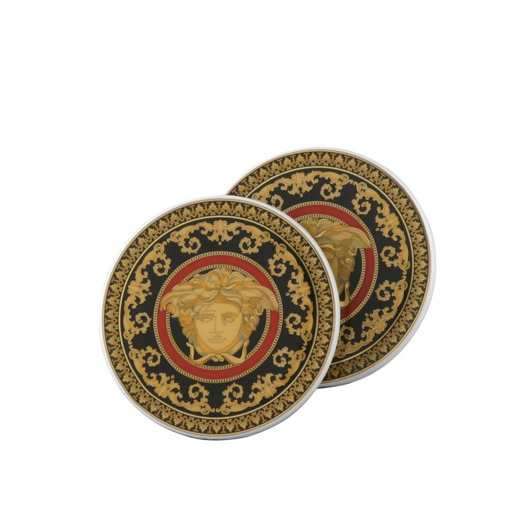Versace Medusa Red Coasters Pair