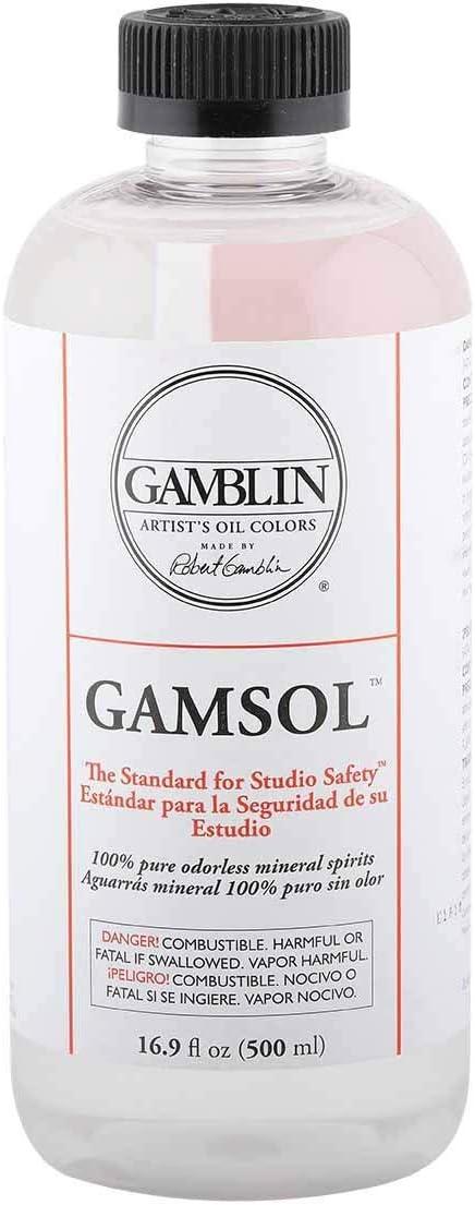 Gamblin Gamsol Oil Color, 16.9 oz, Clear