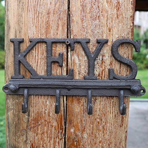 Country 4 Hole Deck Mount - CXQ Retro Country Industrial Wind Cast Iron Hook Crafts Wall Hangings Keys Home Decoration