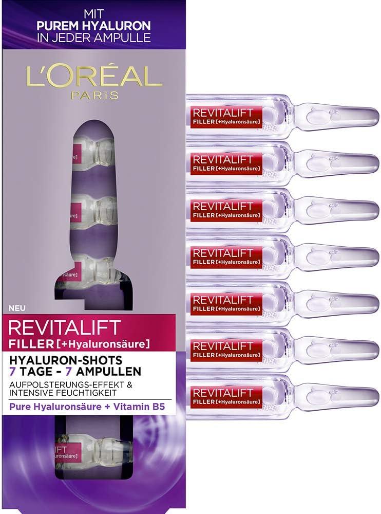 L'Oréal Paris Revitalift Filler - Hidrourón con ácido hialurónico puro, para una hidratación intensa y una piel acolchada, 9,1 ml