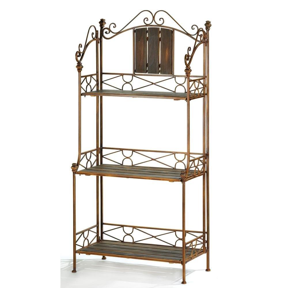 Rustic Baker`s Rack Shelf by Quotech