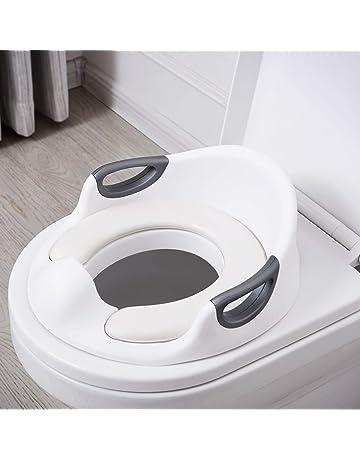 12 Monate bis 7 Jahre Toilettentrainer Griff und Spritzschutz Baby Sitz Anti-Rutsch Polster Kloaufsatz Navaris Kinder Toilettensitz WC Aufsatz