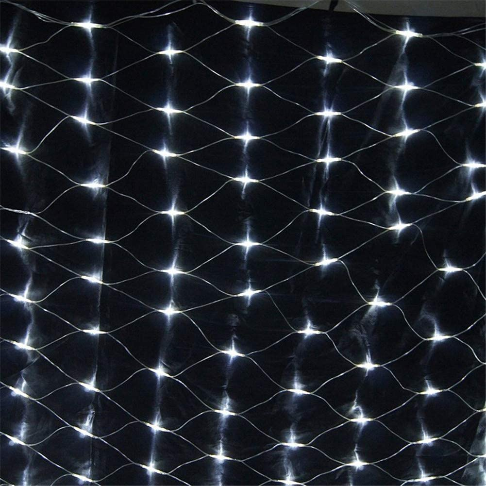 SUWIN Hada LED Cadena de luz, al Aire Libre Cubierta Impermeable Ligero Neto, del árbol del jardín Envuelta luz de Hadas, 8 Patrones destellantes, decoración de la Boda Luces (Blanco frío) 2X2M: