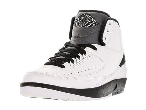 timeless design c2cba 49411 Nike Mens Air Jordan 2 Retro Wing It White/Black-Dark Grey Leather