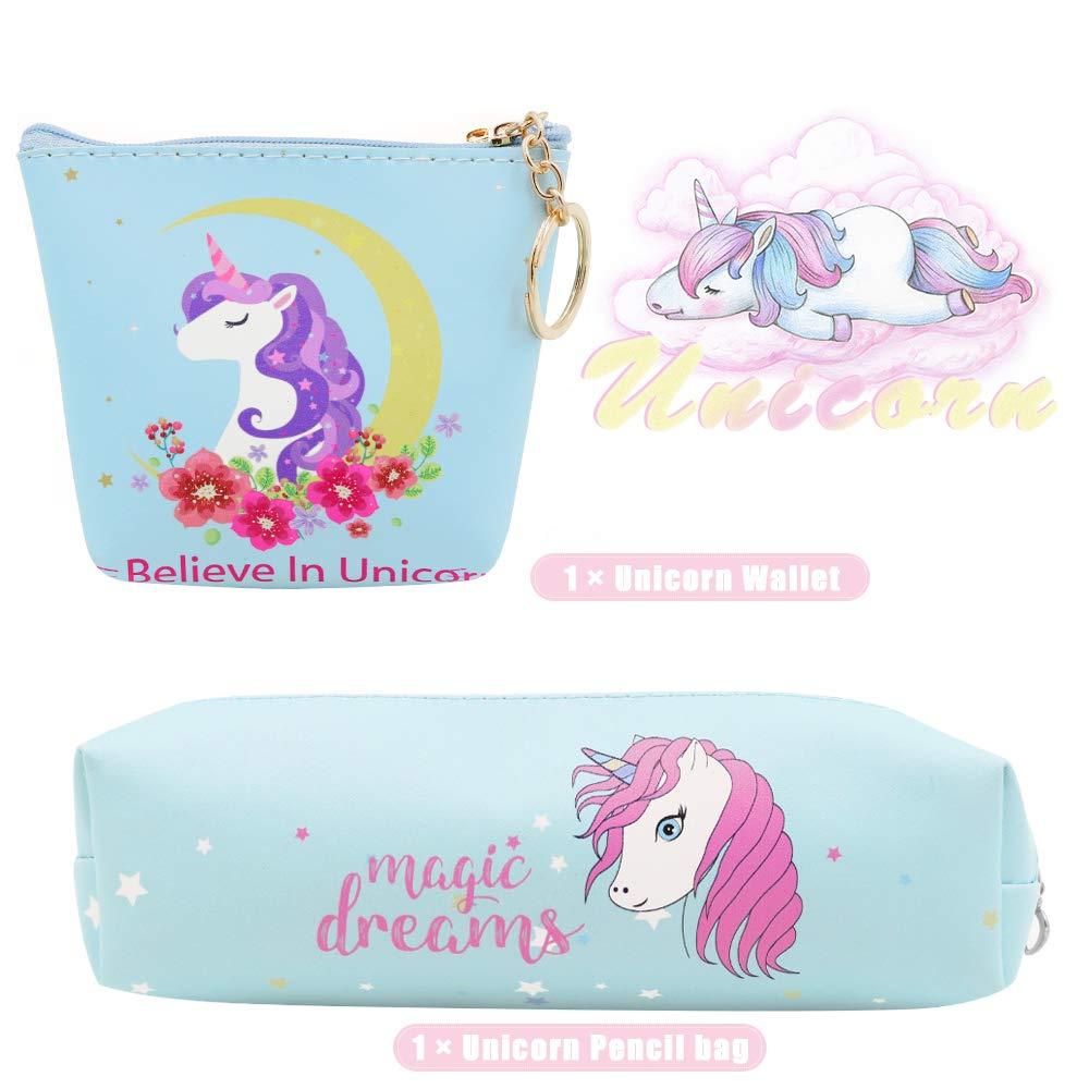 JUSTIDEA 1 monedero Unicornio Magic de 1 unicornio estuche de lápices para niños bolsa de herramientas de maquillaje bolsa de almacenamiento para ...