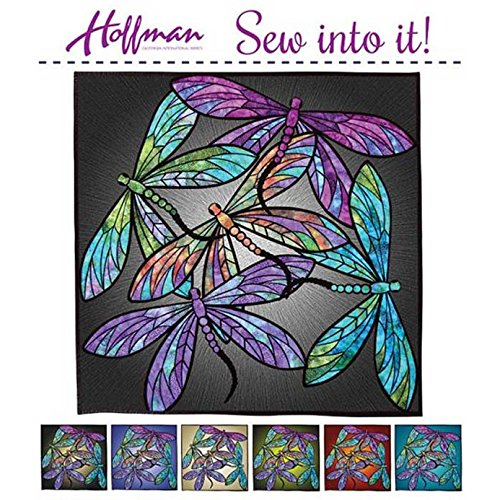 Hoffman Fabrics Dance Of The Dragonflies Quilt Kit by Joann Hoffman Multi 40 by 40