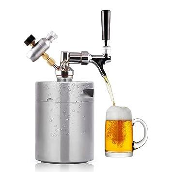 HAVEGET MINI acero inoxidable Mantenga fresca la cerveza cerveza barril ajustable Grifo de cerveza,Tirador de cerveza Dispensador Doméstico de Cerveza ...