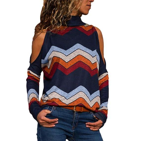 Blusa Mujer, LANSKIRT Blusas Camisetas de Gasa Ropa de Mujer Suéter Jersey Camisas Manga Ajustable Blusas Pullover Tops Suelta: Amazon.es: Ropa y accesorios