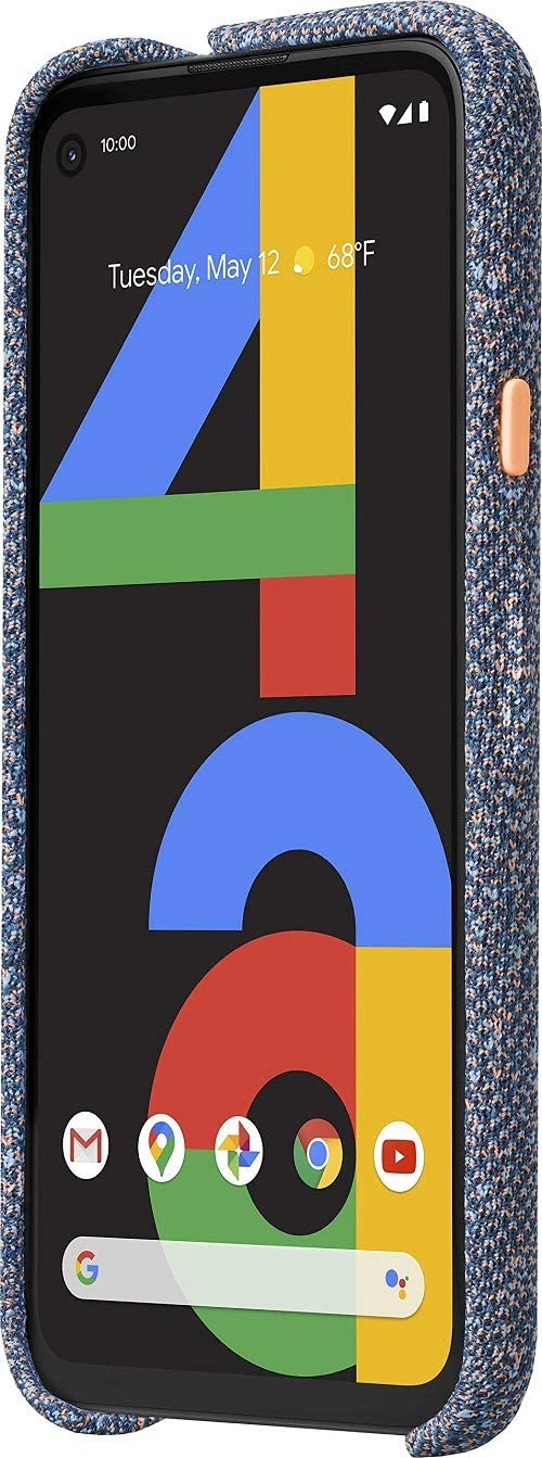 Google Pixel 4a - New Unlocked Android Smartphone - 128 GB of Storage - Up to 24 Hour Battery - Just Black with Google Pixel 4a Case, Blue Confetti