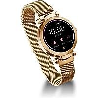 Relógio Smartwatch Dubai Dourado Atrio Leitura de Mensagem Modo Esportivo Monitor Cardíaco e Sono à Prova de Água IP67 – ES266