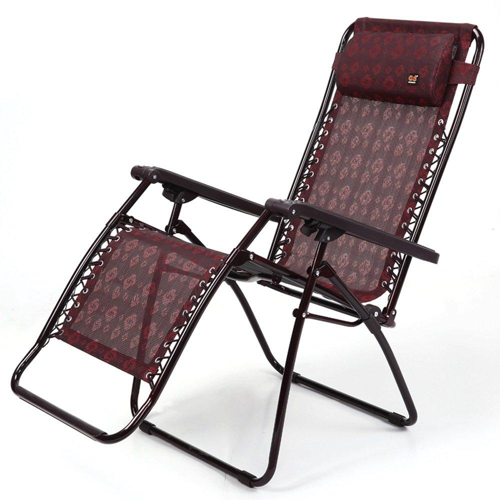 Folding Chair YAN SYF Sillón Rojo Simple Silla Plegable Silla De Oficina Niños Mayores Silla De Playa Perezosa Jardín Silla Ajustable para Acampar A++ (Color : A)