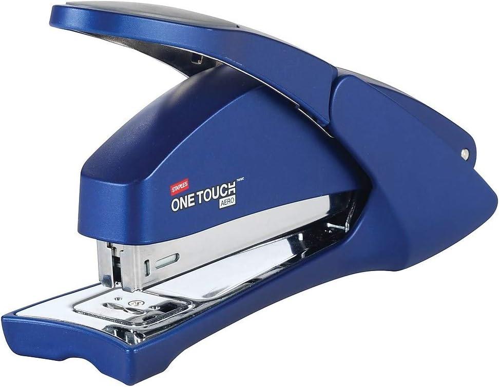 Staples 797099 One-Touch Aero Desktop Stapler Full-Strip Capacity Blue (23078)