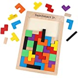SainSmart Jr. Madera Tangram Jigsaw Puzzle Tetris Del Juguete, Juego Educativo (Tetris Rompecabezas)