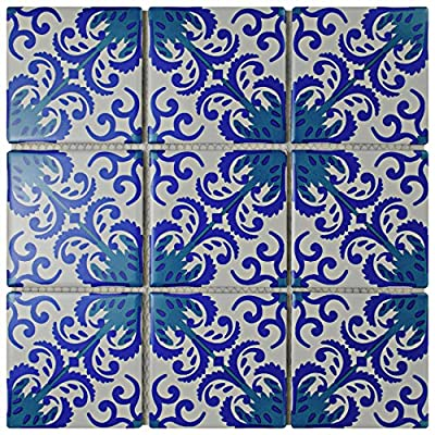 "SomerTile Fdxamovi Cadence Ivy Porcelain Mosaic Floor and Wall Tile x 11.75"", Viola"