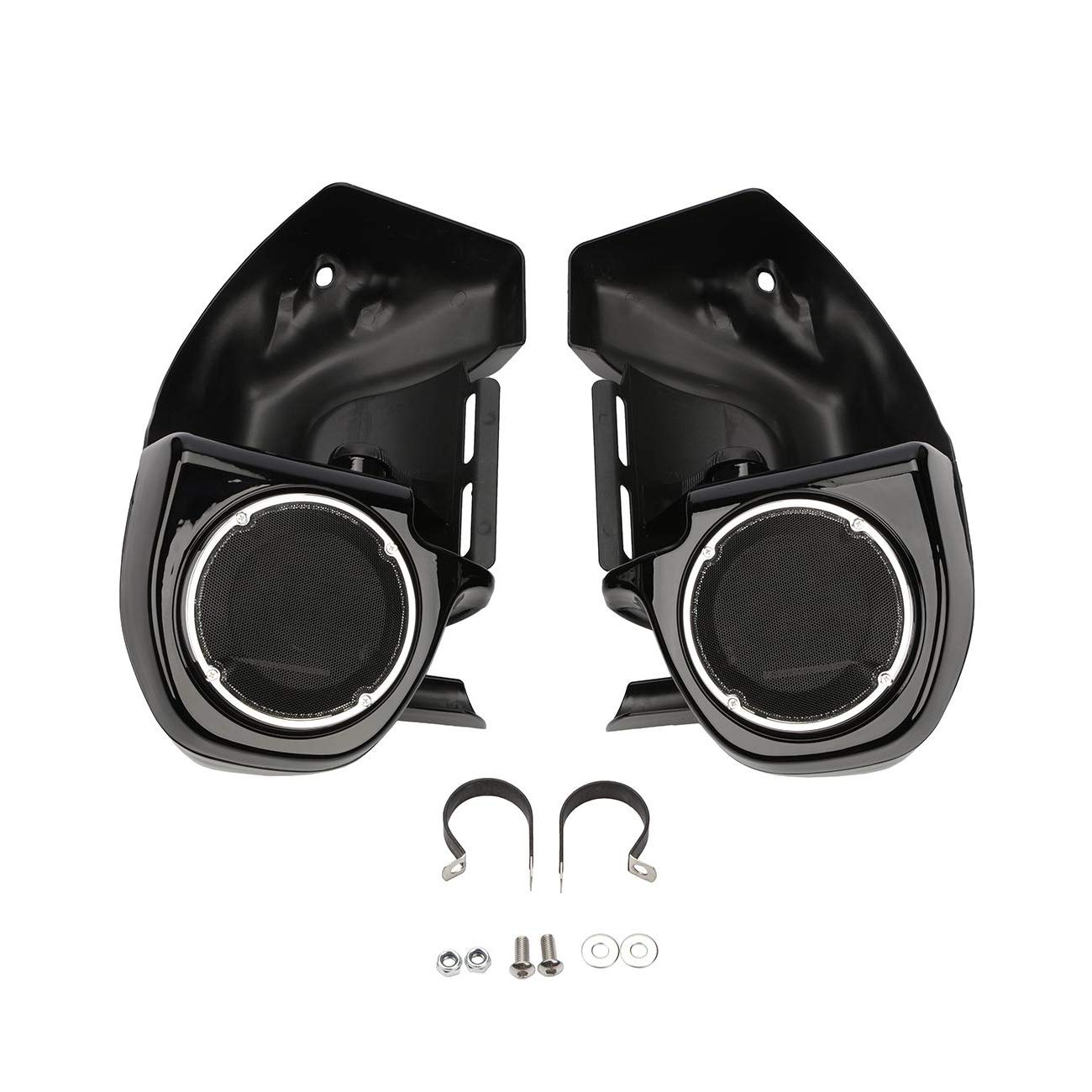 INNOGLOW Motorcycle Lower Vented Fairing with Speaker Pod 1 Pair Fits for 1989-2013 All Touring Models