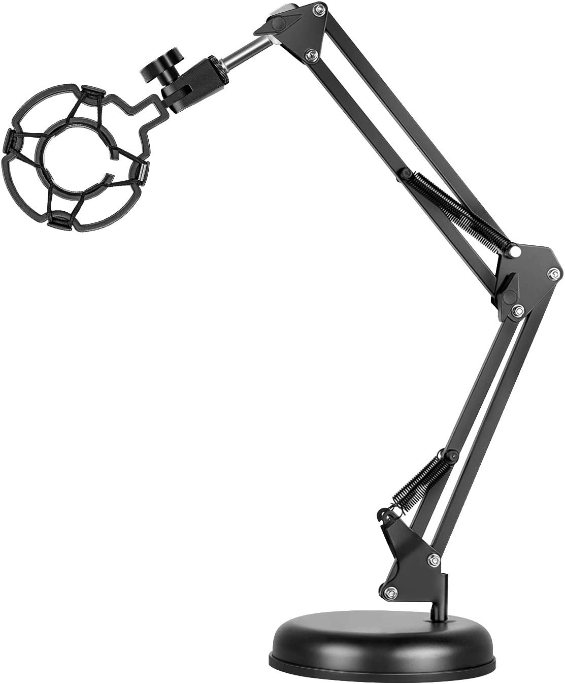 Neewer Desktop Microphone Stand, Adjustable Microphone Suspension Boom Scissor Arm Stand with Mic Shock Mount for Lightweight Micphone in Studio Video Room TV Station Broadcast and Home