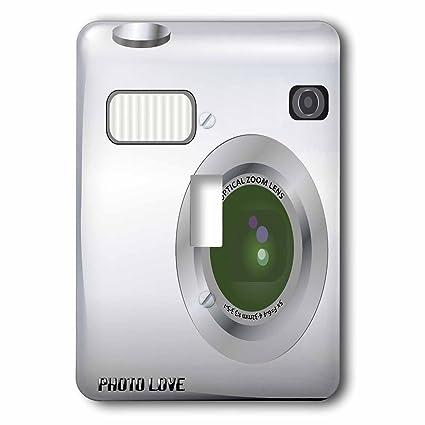 3drose Lsp574581 Silver Camera Square Design Unique Novelty Gift