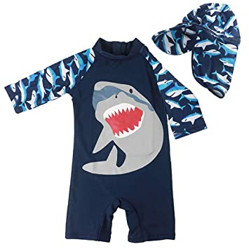 e7090e717f Kids Swimsuits Toddler Boys Sun Protection One Pieces Swimwear UPF 50+ UV  Sunsuit with Swimming
