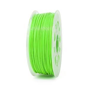 Gizmo Dorks 1.75mm PLA Filament 1kg / 2.2lb for 3D Printers, Fluorescent Green (UV Light)