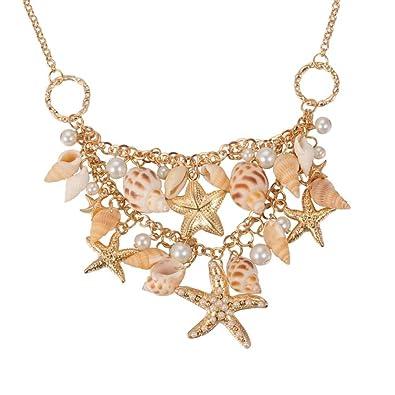 Atdoshop(TM) Ocean Sea Shell Starfish Faux Pearl Bracelets Bangles Pendant Jewelry xp0og40