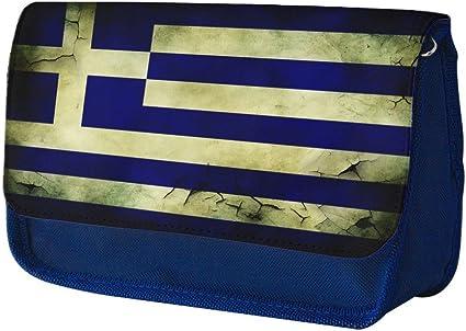 Banderas Grecia 2, Azul Escuela Niños Sublimación Alta calidad Poliéster Estuche de lápices con Diseño Colorido. 21x13 cm.: Amazon.es: Oficina y papelería