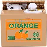 Yosoo Salvadanaio Elettrico Gatto Ruba Monete Orange/Good Luck (Batterie non incluse) (Orange)