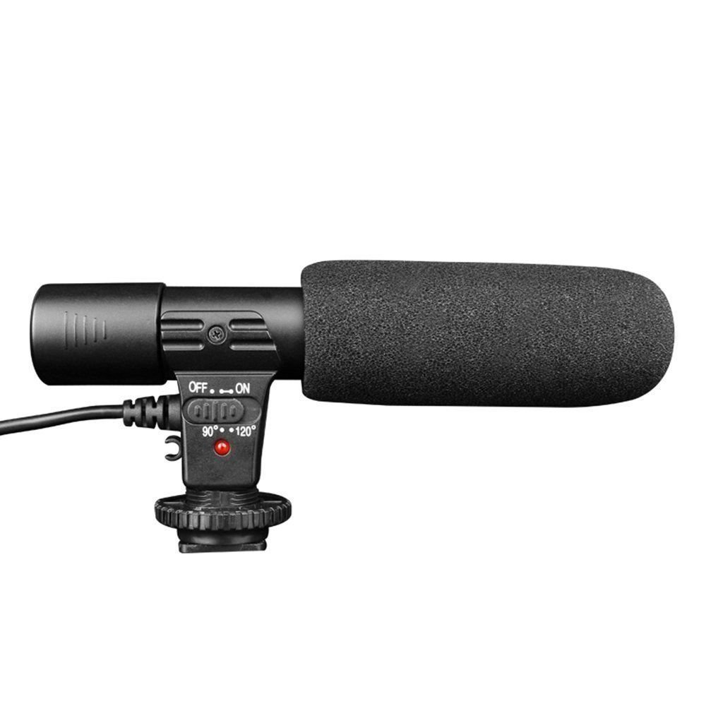 Mic-01 Digital Video Dv Camera Professional Studio/stereo Shotgun Recording Microphone for Canon Nikon Pentax Olympus Panasonic Digital SLR Camera Toyoutdoorparts
