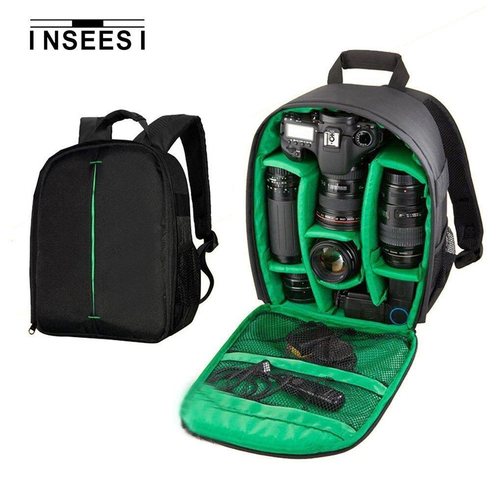 Kilos Inseesi Processional zaino per fotocamere SLR per Canon per Nikon per fotocamere Sony durevole impermeabile 600D Nylon bag (6.88 * 4.9 * 13.38in) (GREEN1)