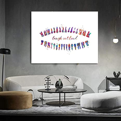 Portrait Of Dentist With Art Print // Canvas Print Home Decor Wall Art Poster