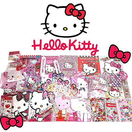 [GIFT WRAP] Sanrio Hello Kitty Assorted School Supply Stationary Set (12pcs)