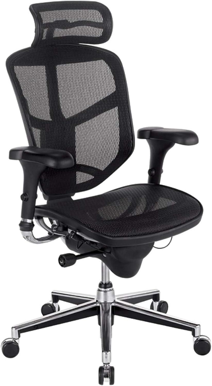 WorkPro Quantum 9000 Series Ergonomic Mesh High-Back Chair with Headrest, Black