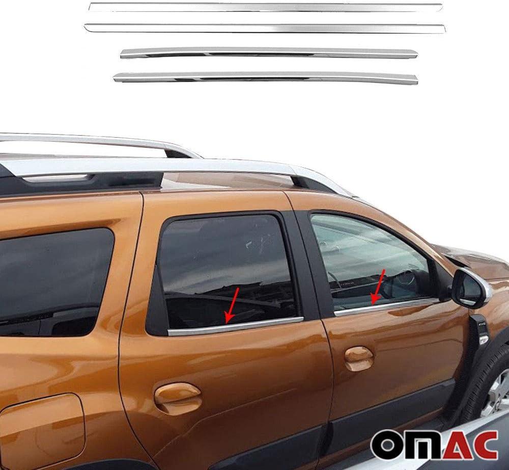 Fensterleisten Aus Blenden Edelstahl Chrom 4 Teileg Auto