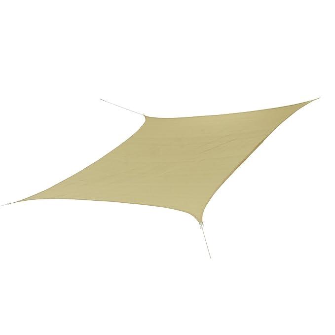 Patterson quadratisches Tarp 3,6x3,6m Sonnensegel atmungsaktiv 90/% Verschattung