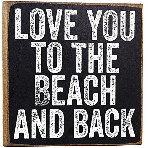 Love You to The Beach Wooden Sign - Makes a Great Gift Under $10 -