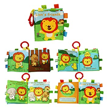 Soft Books For Toddlers Babies Kids Activity Interactive Educational Picture Set