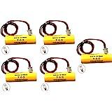 (5 Pack) 1.2v 900mAh Exit Sign Emergency Light NiCad Battery Replacement Unitech AA900mAh OSA268 ELB CS01 Lithonia 1.2v…