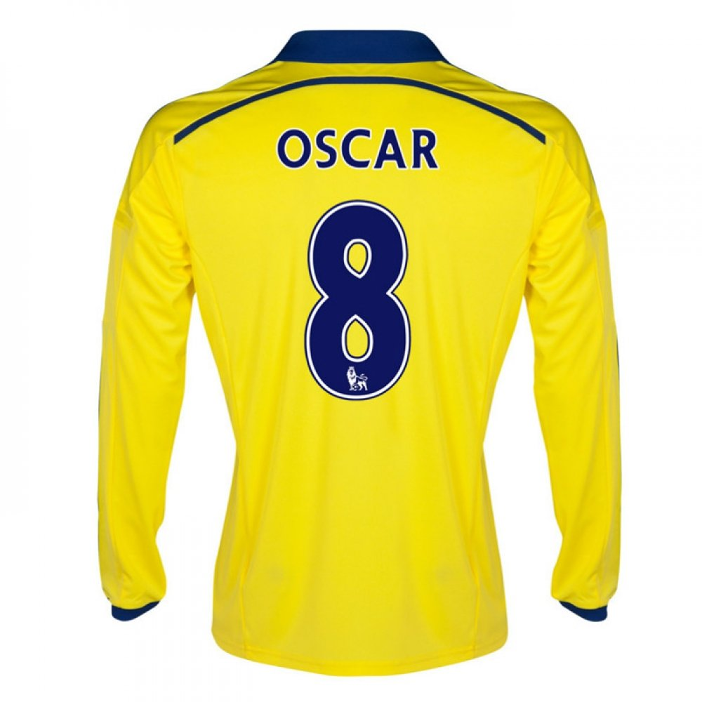 2014-15 Chelsea Long Sleeve Away Shirt (Oscar 8) B077VKZ9RLYellow Large 42-44\