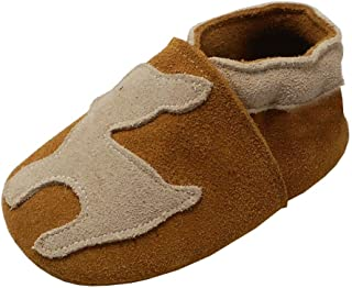 YIHAKIDS Bébé Filles Bébé Garçons Chaussures Cuir Souple Enfant Chaussures en Cuir Premiers Pas Chaussons