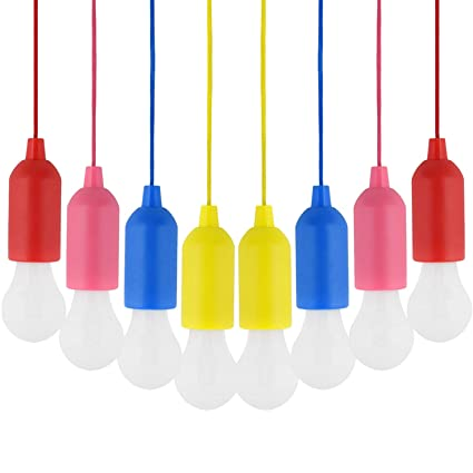 outlet store 7a671 dd509 Amazon.com: Pull Cord Light, Pull Cord Light Bulb 8PCS ...
