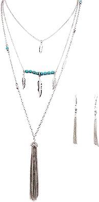 Or Argent Long 5 Chaîne Tassel Pendants d/'oreilles pour femmes Charme Cristal Bijoux