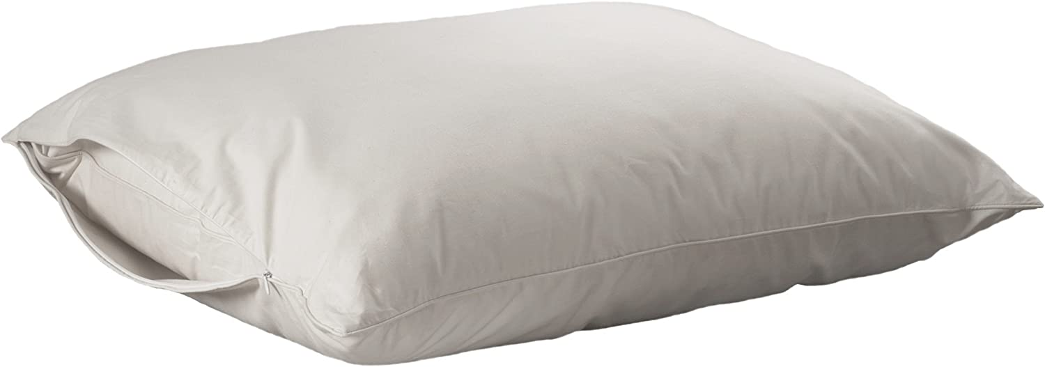 AllerEase Hot Water Washable Zippered Pillow Protector –Hypoallergenic Zippered Pillow Protectors, Allergist Recommended, Prevent Collection of Dust Mites and Other Allergens, Standard/Queen Sized, Pack of 2