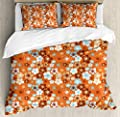 Hedda Clare Elegant Life Quilt coverDoodle Style Ornament Duvet Cover SetCustom Design 3 PC Duvet Cover Set